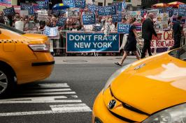 New Yorkers Against Fracking Protest