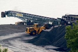 "Piles of dusty petroleum waste called ""petcoke"""