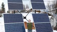 Solar panels at Kaslo, BC