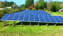 Solar panels in garden