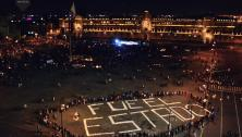 """Mexican Protesters' Message about disappeared students in Ayotzinapa """"Fue El Estado - It was the state"""""""