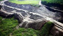 Slope failure at Site C Dam construction site, July 2016