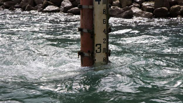 Tide gauges reveal that sea levels are rising (Credit: Sunpix Marine/Alamy Stock Photo)
