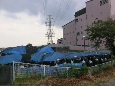 Apartment with radioactive waste piles