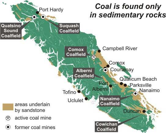 Mines On Vancouver Island
