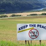 Keep the Peace / Stop Site C Dam sign in the Peace River Valley | That Dam | Watershed Sentinel