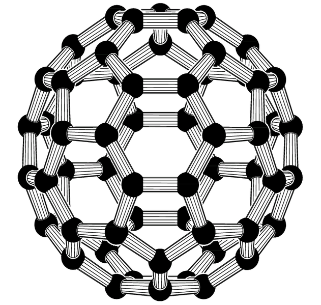 Buckminsterfullerene 3D model
