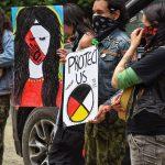 Activists against Teal-Jones logging Old Growth