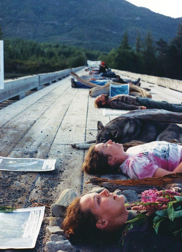 Die-in Clayoquot blockades