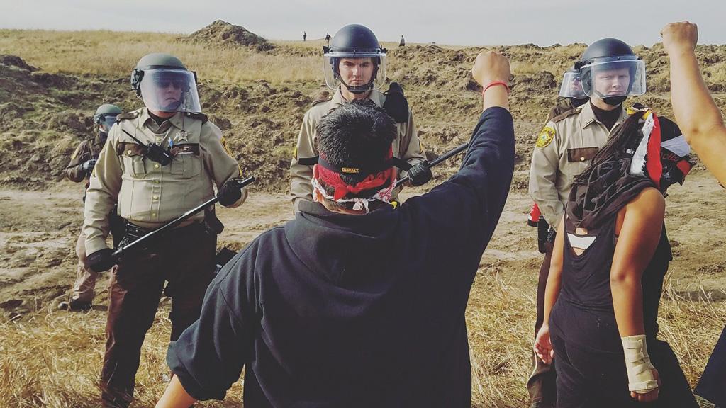Anishinaabe land defender faces off against North Dakota police forces